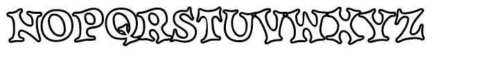 Knobbly Knees Open Font UPPERCASE
