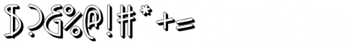 Kneebls Extruded Font OTHER CHARS