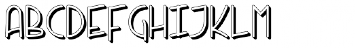 Kneebls Extruded Font UPPERCASE
