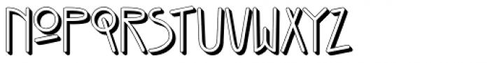 Kneebls Extruded Font LOWERCASE