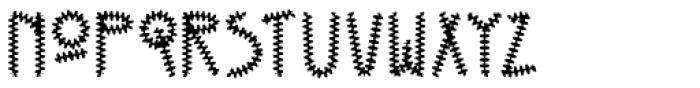 Kneebls Ruffled Font LOWERCASE
