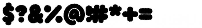 Knicknack Fuzzy Black Font OTHER CHARS