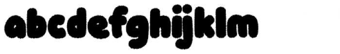 Knicknack Fuzzy Black Font LOWERCASE