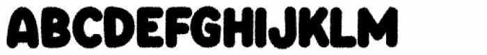 Knicknack Fuzzy Regular Font UPPERCASE