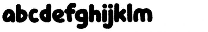 Knicknack Fuzzy Regular Font LOWERCASE