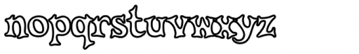 Knobbly Knees Open Font LOWERCASE