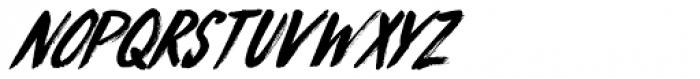 Knucklebones Italic Font UPPERCASE