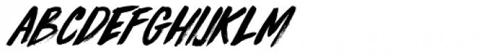 Knucklebones Italic Font LOWERCASE
