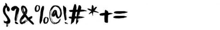 Knucklebones Upright Regular Font OTHER CHARS