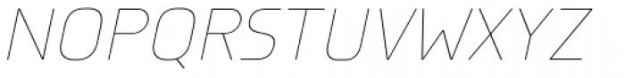 Knul UltraLight Italic Font UPPERCASE