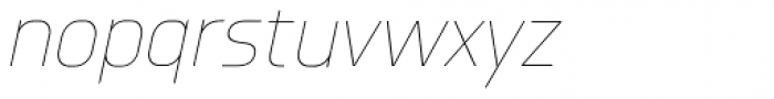 Knul UltraLight Italic Font LOWERCASE