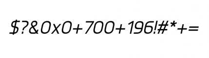 Knul Medium Italic Font OTHER CHARS