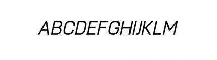 Knul Medium Italic Font UPPERCASE