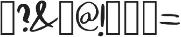 Konya Regular otf (400) Font OTHER CHARS
