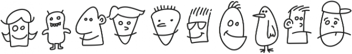 Kookyheads otf (400) Font OTHER CHARS