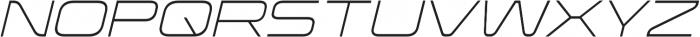 Korataki ExtraLight Italic otf (200) Font UPPERCASE