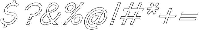 Kosmique Outline Regular Italic otf (400) Font OTHER CHARS