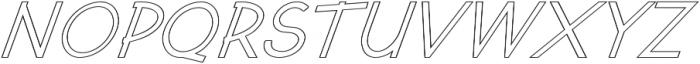 Kosmique Outline Regular Italic otf (400) Font UPPERCASE