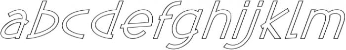 Kosmique Outline Regular Italic otf (400) Font LOWERCASE