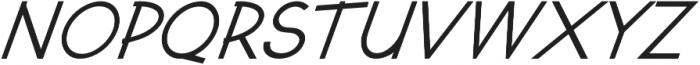 Kosmique Regular Italic otf (400) Font UPPERCASE