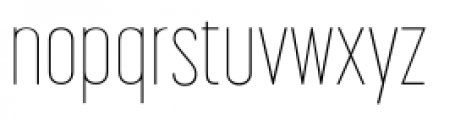 Korolev Compressed Pro Thin Font LOWERCASE