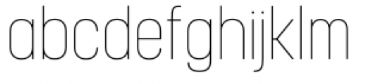 Korolev Condensed Pro Thin Font LOWERCASE