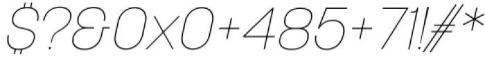 Korolev Italic Pro Thin Italic Font OTHER CHARS