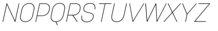 Korolev Italic Pro Thin Italic Font UPPERCASE