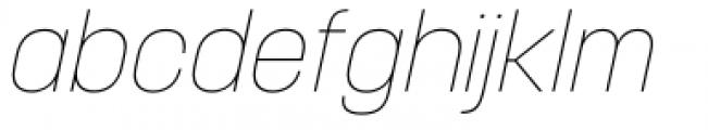 Korolev Italic Pro Thin Italic Font LOWERCASE