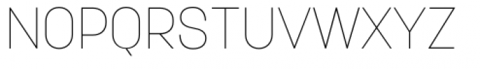 Korolev Pro Thin Font UPPERCASE