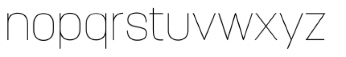 Korolev Pro Thin Font LOWERCASE