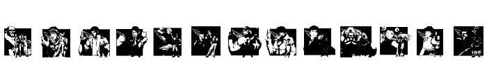 KOF Dingbats Font LOWERCASE