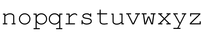 KOI8 Kurier Fixed Font LOWERCASE