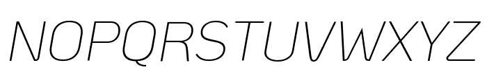 KoHo ExtraLight Italic Font UPPERCASE