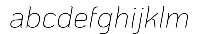 KoHo ExtraLight Italic Font LOWERCASE