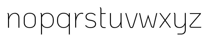 KoHo ExtraLight Font LOWERCASE