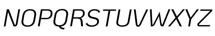 KoHo Italic Font UPPERCASE