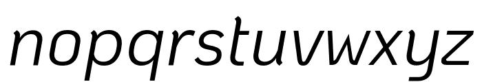 KoHo Italic Font LOWERCASE
