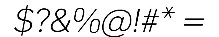 KoHo Light Italic Font OTHER CHARS