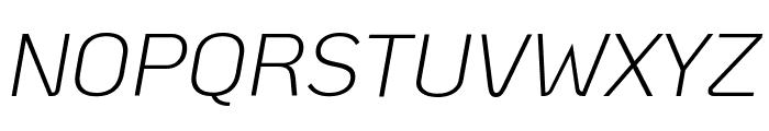 KoHo Light Italic Font UPPERCASE