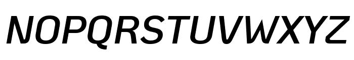 KoHo SemiBold Italic Font UPPERCASE
