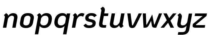 KoHo SemiBold Italic Font LOWERCASE