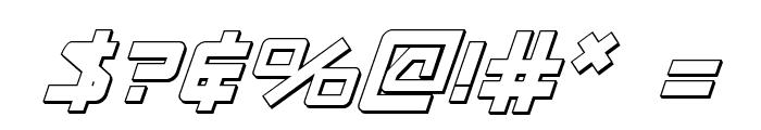 Kobold 3D Italic Font OTHER CHARS