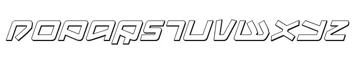 Kobold 3D Italic Font UPPERCASE