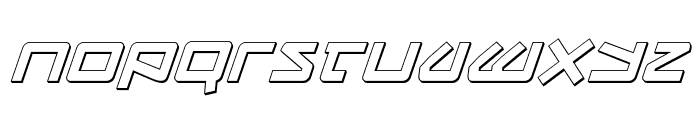 Kobold 3D Italic Font LOWERCASE