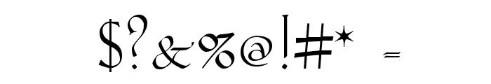Koch-Antiqua Zier Font OTHER CHARS