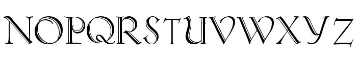 Koch-Antiqua Zier Font UPPERCASE