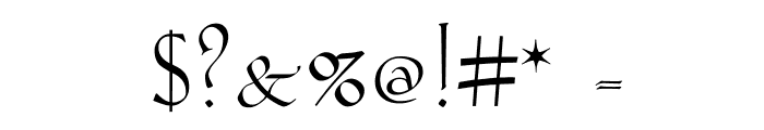 Koch-AntiquaZier Font OTHER CHARS