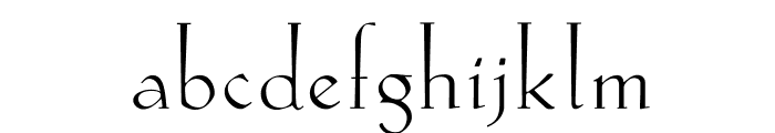 Koch-AntiquaZier Font LOWERCASE