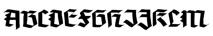 Koch-Defrag Font UPPERCASE
